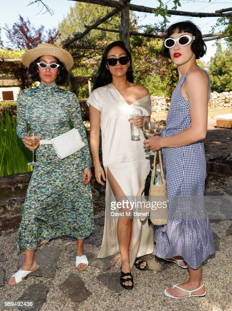 Jen Atkin Stephanie Shepherd and Mia Moretti attend Rosetta Getty's third annual Tuscany weekend at Villa Pipistrelli on July 1 2018 in Sovicille...