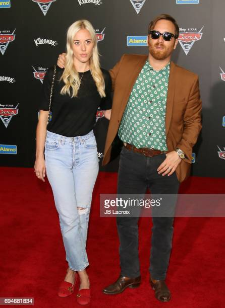 Jen Auerbach and Dan Auerbach attend the premiere of Disney and Pixar's 'Cars 3' on June 10 2017 in Anaheim California