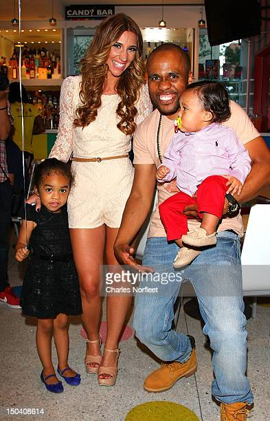Jen Bayer Consequence and their son Caiden attend Caiden's First Birthday Party at Dylan's Candy Bar on August 16 2012 in New York City