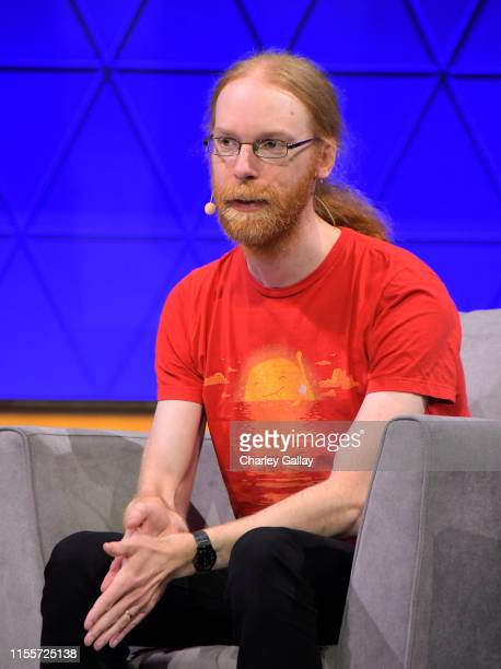 Jen Bergensten speaks onstage at the 'Minecraft The Next Ten Years' panel during E3 2019 at the Novo Theatre on June 13 2019 in Los Angeles California