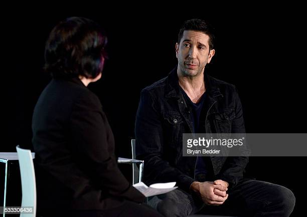 Jen Chaney and David Schwimmer speak at 'David Schwimmer In Conversation' at the Vulture Festival at Milk Studios on May 21 2016 in New York City