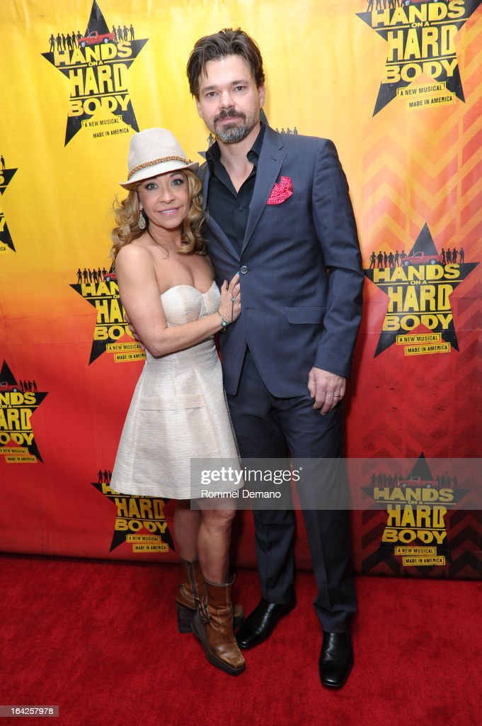 Jen Cody and Hunter Foster attend 'Hands On A Hard Body' Broadway Opening Night After Party at Roseland Ballroom on March 21, 2013 in New York City.