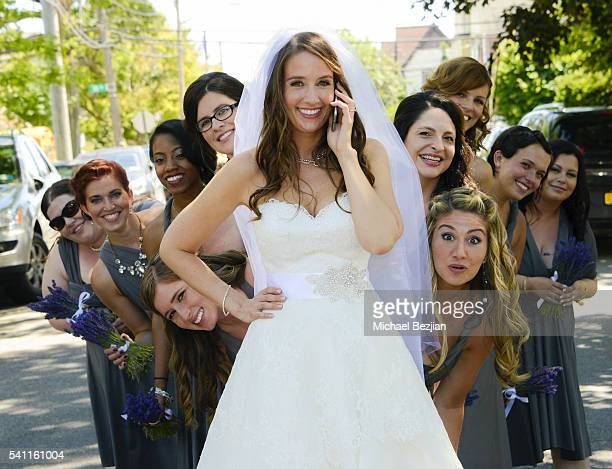 Jen Curci and bridal party at the wedding of Jen Curci and Ryan Doyle on June 18 2016 in New York City