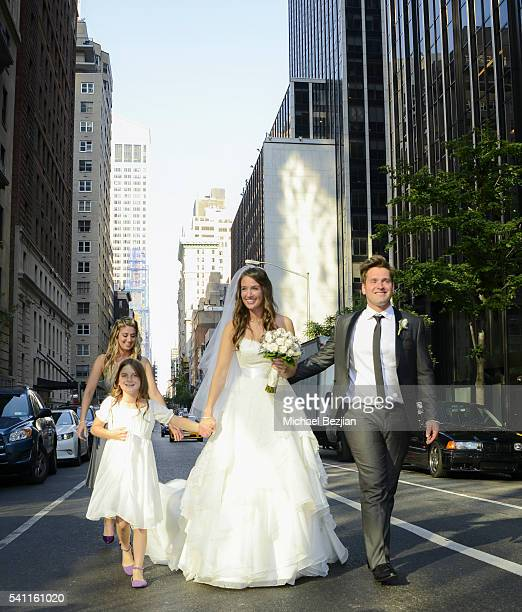 Jen Curci and Ryan Doyle with members of bridal party at the wedding of Jen Curci and Ryan Doyle on June 18 2016 in New York City