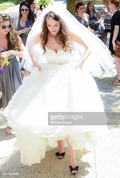 Jen Curci at the wedding of Jen Curci and Ryan Doyle on June 18 2016 in New York City