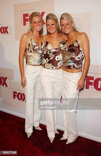 Jen Dahm Erica Dahm and Nicole Dahm during 2004 Fox Fall Season Party at Central in West Hollywood California United States