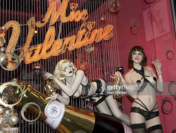 Jen Dawson Promoting Agent Provocateur And Armand De Brignac Champagne At Their Flagship Store In Londons Soho
