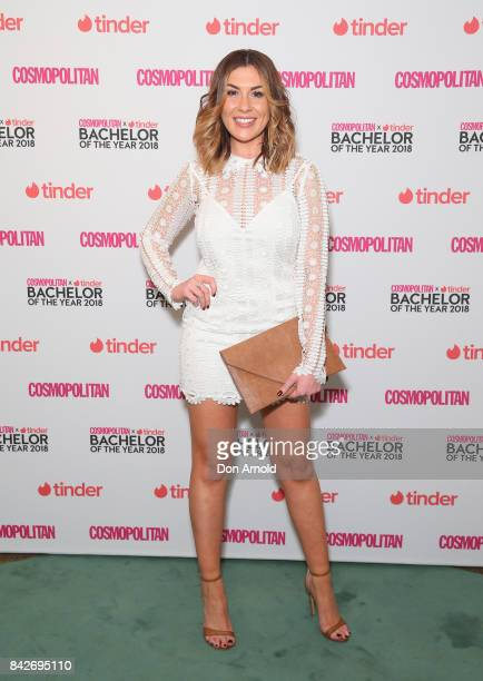Jen Hawke attends the Cosmopolitan Tinder Bachelor Of The Year 2018 PreGame Lunch on September 5 2017 in Sydney Australia