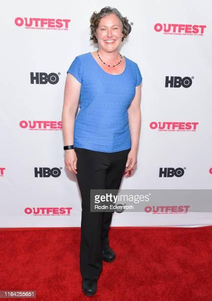 Jen Huckman attends the Outfest Los Angeles LGBTQ Film Festival screening of Changing the Game centerpiece documentary at TCL Chinese 6 Theatres on...