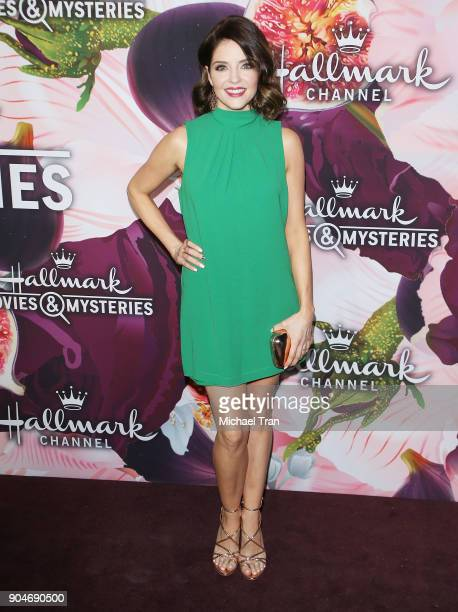 Jen Lilley arrives to the Hallmark Channel and Hallmark Movies and Mysteries Winter 2018 TCA Press Tour held at Tournament House on January 13 2018...