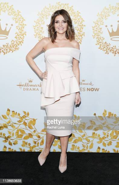 Jen Lilley attends Hallmark Channel And Hallmark Movies And Mysteries 2019 Winter TCA Tour at Tournament House on February 09 2019 in Pasadena...