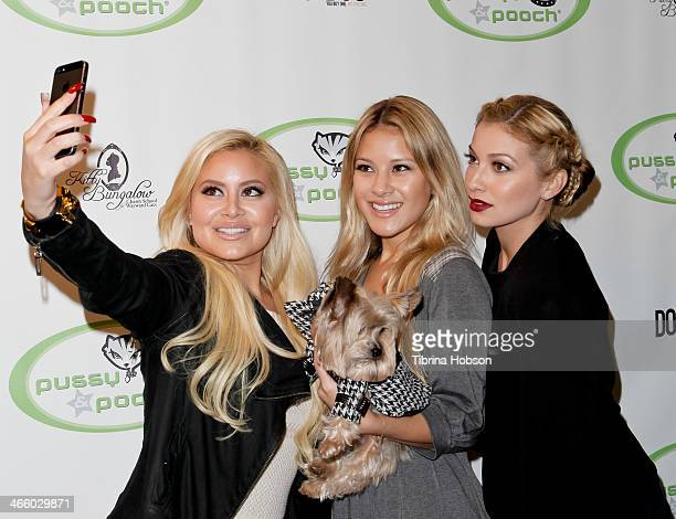 Jen Marin Cat Marin and Lauren Marin take selfies at 'A Fur Affair' to benefit animal welfare superheroes at Pussy Pooch Pet Lifestyle Center on...
