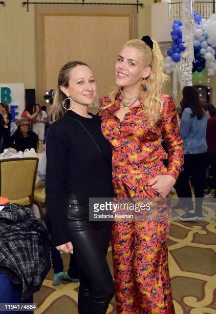 Jen Meyer and Busy Philipps attend The Baby2Baby Holiday Party Presented By FRAME And Uber at Montage Beverly Hills on December 15, 2019 in Beverly...