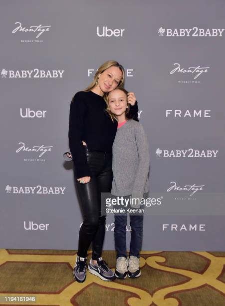 Jen Meyer and Otis Tobias Maguire attend The Baby2Baby Holiday Party Presented By FRAME And Uber at Montage Beverly Hills on December 15, 2019 in...