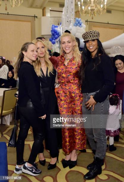 Jen Meyer, Rachel Zoe, Busy Philipps and Kelly Rowland attend The Baby2Baby Holiday Party Presented By FRAME And Uber at Montage Beverly Hills on...