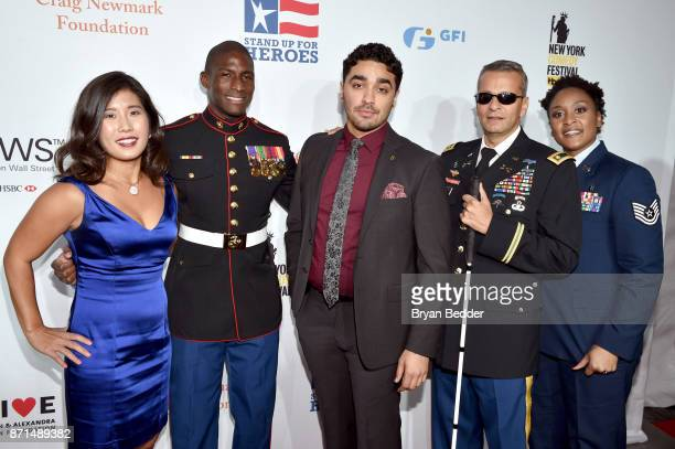 Jen Oh Kionte Storey EJ Bonilla Ivan Castro and Deondra Parks attend the 11th Annual Stand Up for Heroes Event presented by The New York Comedy...