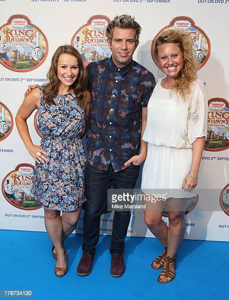 Jen Pringle, Derek Moran and Olivia Birchenough attend VIP Screening of Thomas & Friends: King Of The Railway at Vue Leicester Square on August 18,...
