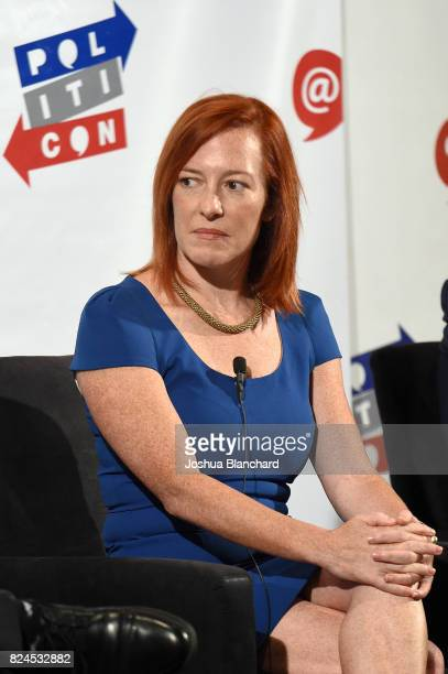 Jen Psaki at the 'LA World Affairs Council Presents: World War 3' panel during Politicon at Pasadena Convention Center on July 30, 2017 in Pasadena,...