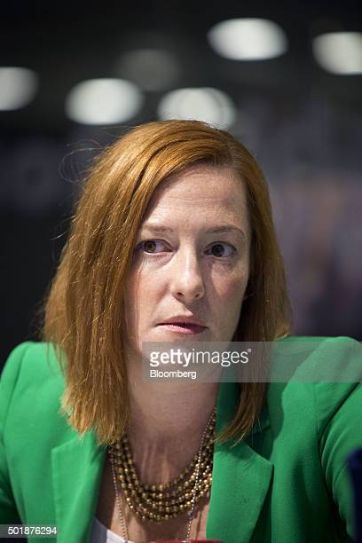 Jen Psaki, director of communications for the White House, listens during an interview in Washington, D.C., U.S., on Friday, Dec. 18, 2015. Gun...