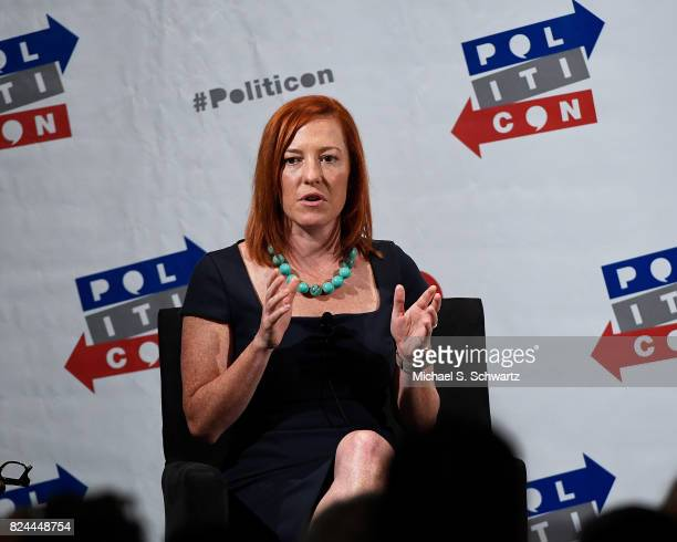 Jen Psaki speaks during her appearance at Politicon 2017 at Pasadena Convention Center on July 29, 2017 in Pasadena, California.