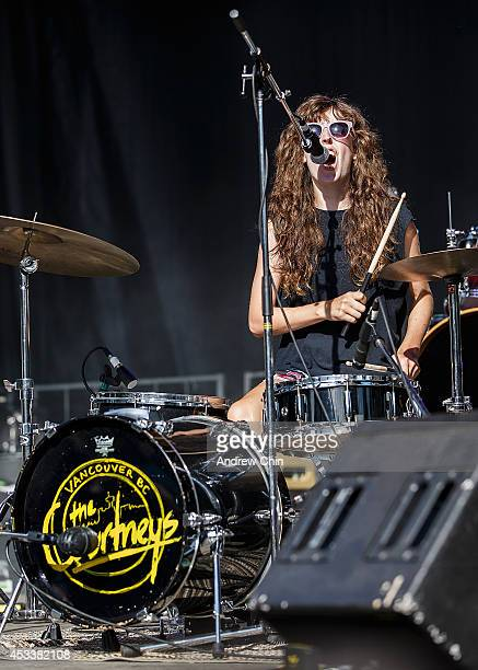 Jen Twynn Payne of The Courtneys performs on stage during Day 1 of Squamish Valley Music Festival on August 8 2014 in Squamish Canada