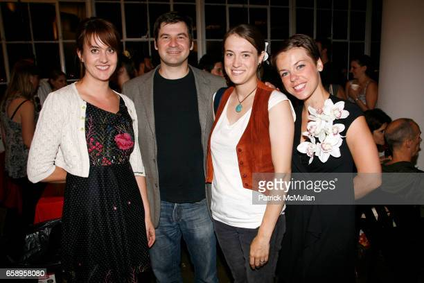 Jen Utz Chris Hondros Dierdre Read and Claire Smyth attend SLIDELUCK POTSHOW XII at Canoe Studios on August 6 2009 in New York City