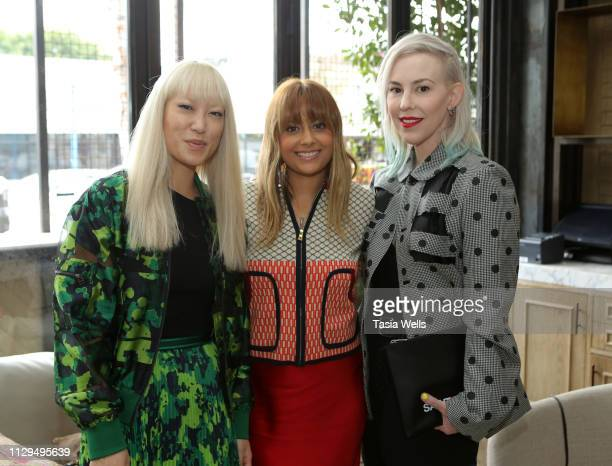 """Jen Woodward, Natalie Mark2 and Candice Lambert attend Norah Restaurant Hosts CFDA Fashion Trust """"A Toast To Stylists"""" Pre-Oscar Brunch Hosted By..."""
