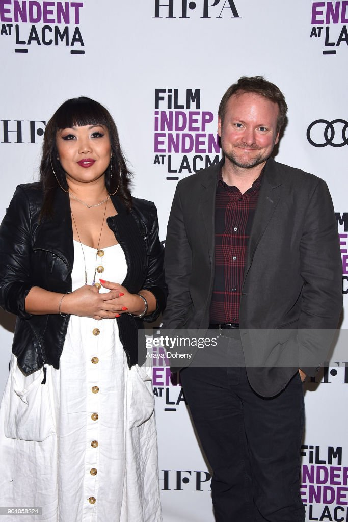 Jen Yamato and Rian Johnson attend the Film Independent at LACMA presents an evening with Rian Johnson at LACMA on January 11, 2018 in Los Angeles, California.