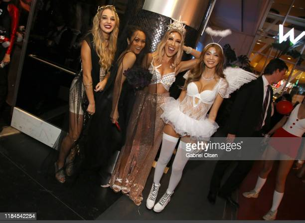 Jena Karam Arrem Yanez Camille Arnold and Sasha Remy attend Trip 'R' Treat with LIVIT LA's Largest Live Streaming Competition on October 30 2019 in...