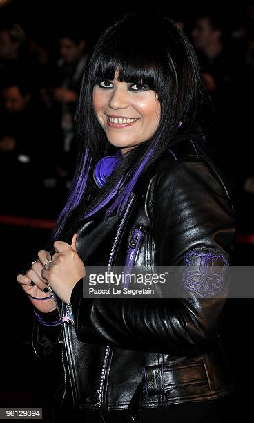 Jena Lee arrives at Palais des Festivals to attend NRJ Music Awards on January 23 2010 in Cannes France