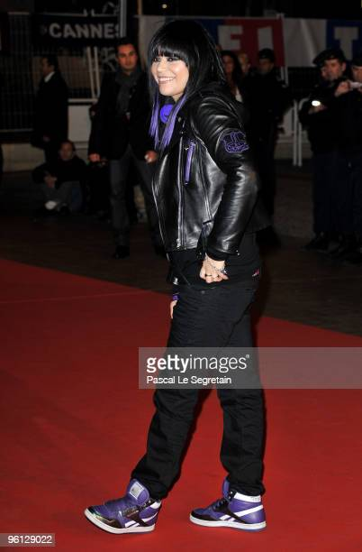 Jena Lee attends the NRJ Music Awards 2010 at Palais des Festivals on January 23 2010 in Cannes France