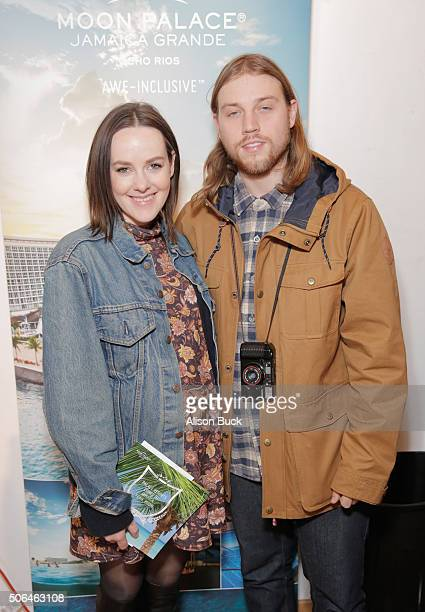 Jena Malone and Ethan DeLorenzo attend Kari Feinstein's Style Lounge on January 23 2016 in Park City Utah