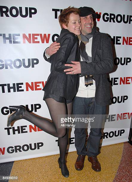 Jena Malone and Scott Elliott attend the opening night party for Mourning Becomes Electra A Trilogy at Metro Marche on February 19 2009 in New York...