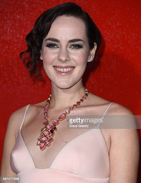 """Jena Malone arrives at the Premiere Of Lionsgate's """"The Hunger Games: Mockingjay - Part 2"""" at Microsoft Theater on November 16, 2015 in Los Angeles,..."""