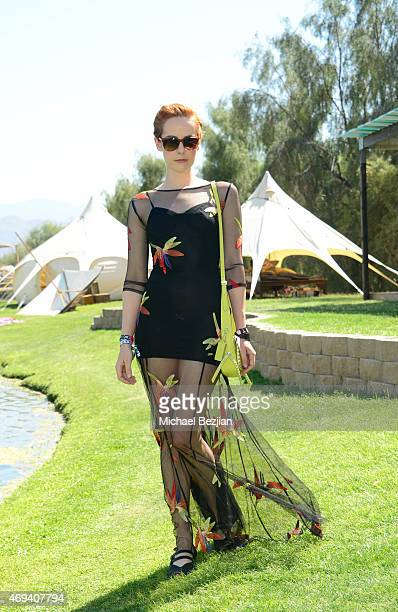 Jena Malone attends Harper's BAZAAR Coach private brunch at Soho Desert House on April 11 2015 in La Quinta California