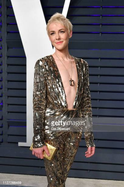 Jena Malone attends the 2019 Vanity Fair Oscar Party hosted by Radhika Jones at Wallis Annenberg Center for the Performing Arts on February 24 2019...