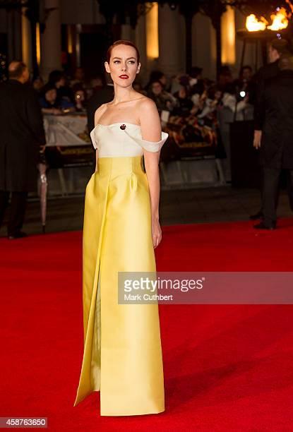 Jena Malone attends the World Premiere of The Hunger Games Mockingjay Part 1 at Odeon Leicester Square on November 10 2014 in London England
