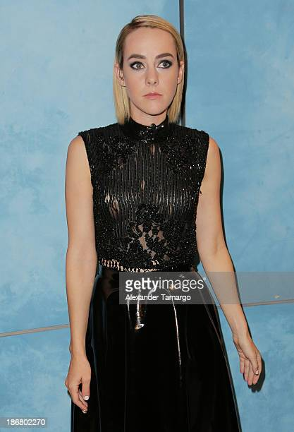Jena Malone from The Hunger Games Catching Fire visits Despierta America at Univision Headquarters on November 4 2013 in Miami Florida