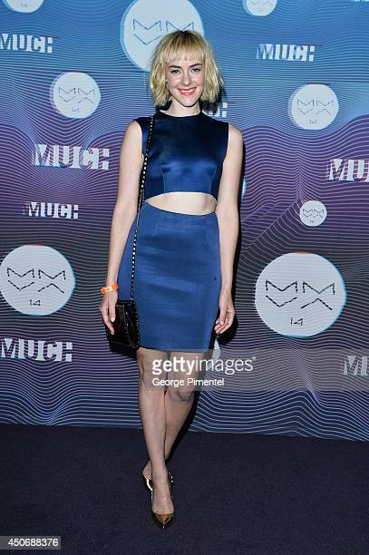 Jena Malone poses in the press room at the 2014 MuchMusic Video Awards at MuchMusic HQ on June 15 2014 in Toronto Canada