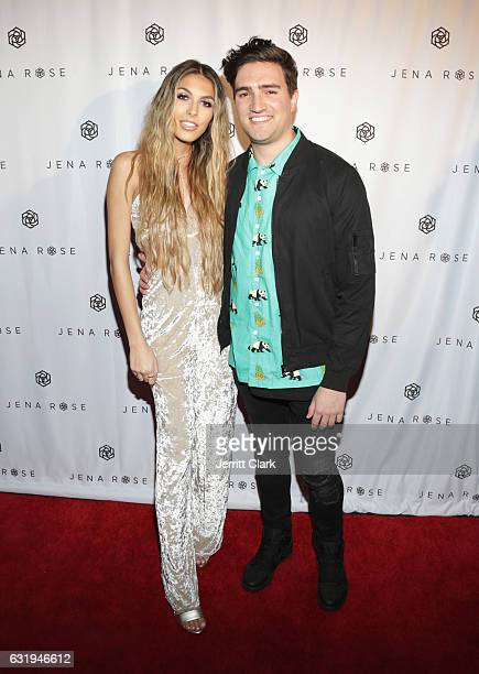 Jena Rose and My Buddy Mike attends Singer Jena Rose Birthday Celebration at Bardot on January 12 2017 in Hollywood California