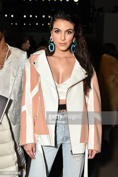 Jena Rose attends the Dennis Basso fashion show during February 2020 New York Fashion Week The Shows at Gallery I at Spring Studios on February 09...