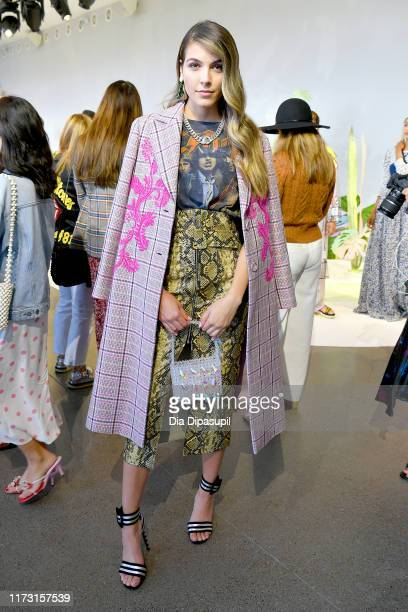 Jena Rose poses for a Tanya Taylor presentation during New York Fashion Week The Shows at Gallery II at Spring Studios on September 08 2019 in New...
