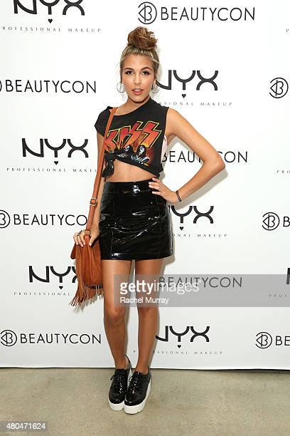 Jena Rose Raphael attends the NYX Cosmetics VIP lounge during BeautyCon LA at The Reef on July 11 2015 in Los Angeles California