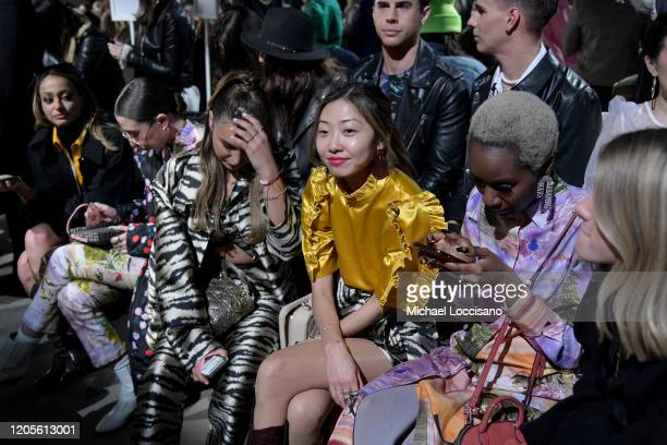 Jena Rose sits front row at the Cynthia Rowley fashion show during February 2020 - New York Fashion Week: The Shows at Gallery I at Spring Studios on...