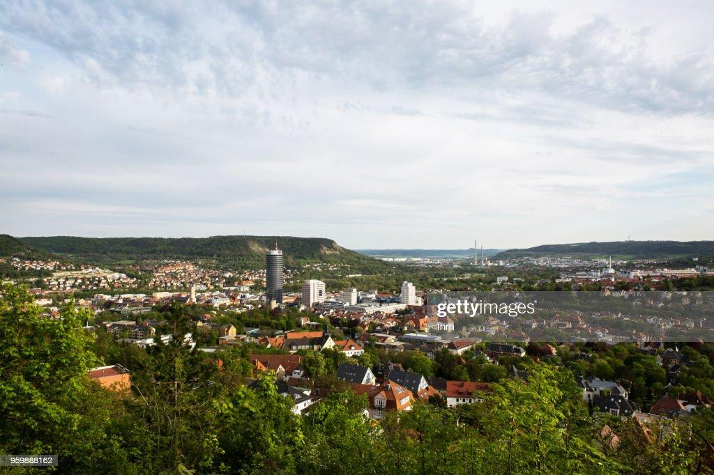 Jena skyline (Thuringia, Germany) : Stock-Foto