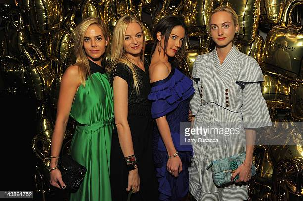 Jena Virginie Prisca and Claire Courtin Clarins attends a dinner in honour of Frieze Project Artists hosted by Frieze Art Inc and Mulberry at Crown...