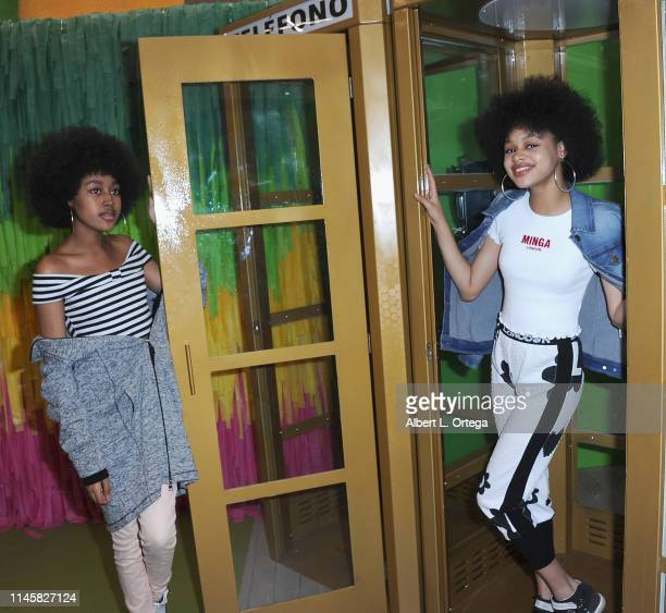 Jenasha Roy and Briana Roy attend Tacotopia Grand Opening held at 1254 3rd Street Promenade on May 23 2019 in Santa Monica California