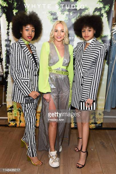 Jenasha Roy Bianca Whyte and Briana Roy attend launch event for Whyte Studio's Festival Capsule Collection at Top Shop at the Grove on April 17 2019...