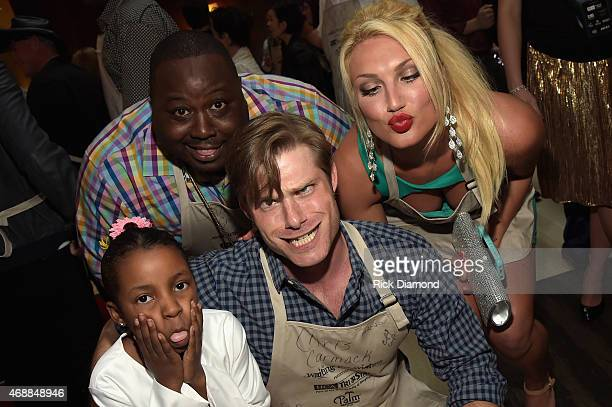 Jenaya Reed Shaun Smith Chris Carmack and Brooke Hogan attend the 14th Annual Kevin Carters Waiting for Wishes Celebrity Waiters Dinner presented by...