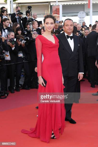 Jenaye Noah and a guest attend the 'The Killing Of A Sacred Deer' screening during the 70th annual Cannes Film Festival at Palais des Festivals on...
